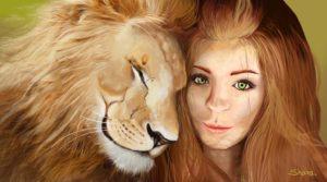 Женщина лев в любви