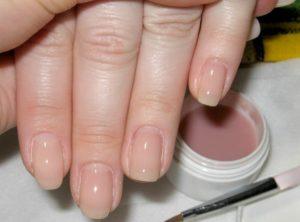 укрепление ногтей гелем
