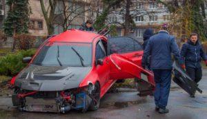 Попала в аварию