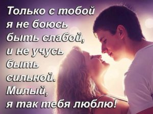 Люблю тебя мой милый