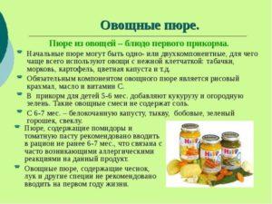 прикорм овощное пюре