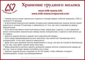 как хранить грудное молоко