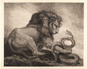 Лев змея мужчина