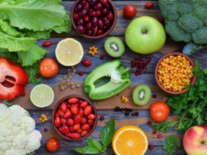 Главные источники витамина С - овощи и фрукты