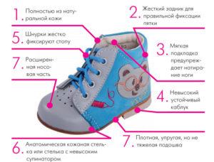 как выбрать обувь малышу до года