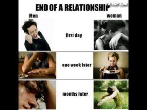 Как девушки переживают расставание