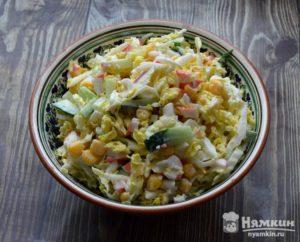 Салат крабовые палочки с капустой рецепт
