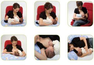 способы кормления грудью