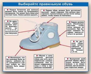как подобрать детскую обувь