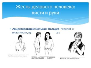 Психология человека жесты